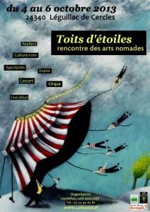 """affiche festival """"Toits d'étoiles"""""""