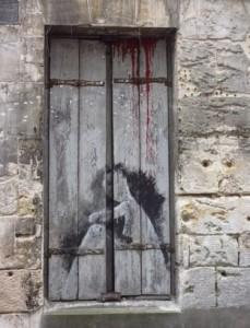 Vendôme grafitti fenêtre red