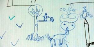 Marsac Légendes urbaines panneau arbre oiseaux cerf red